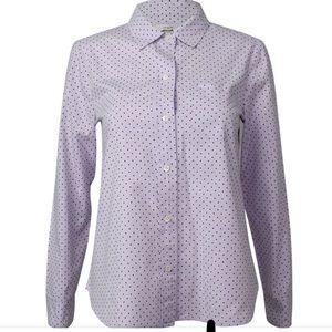 J Crew Oxford Lilac Purple w/polka dot size 6
